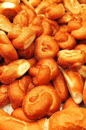 many baked buns Stock Photo - 17527875