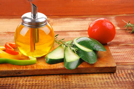 raw vegetables served on wood cutting board Stock Photo - 18501610