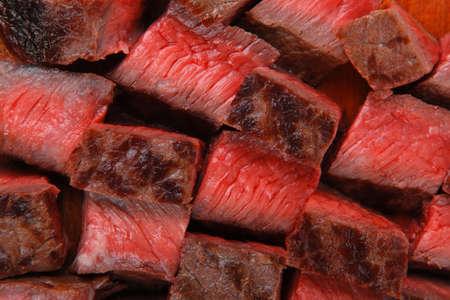 steak beef: meat food : roast beef steak on wood plate isolate on white background