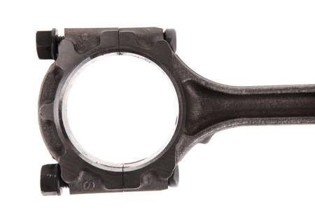 aluminum rod: real used alluminium piston isolated over white background