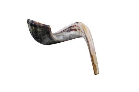 shofar: jewish small horn shofar  Stock Photo