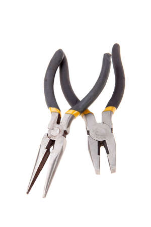 set of two new pliers isolated on white background photo
