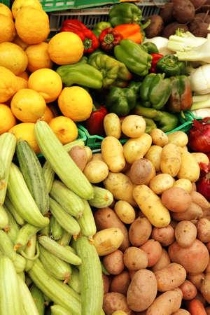 fresh raw taste new vegetables on asian market photo