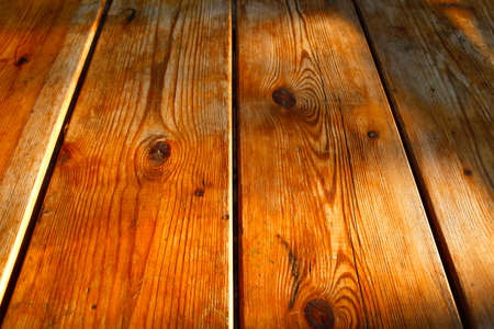high resolution background texture of natural light brown wooden table photo