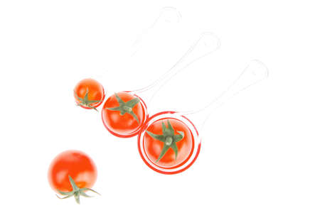 fresh cherry tomatoes isolated on white background photo