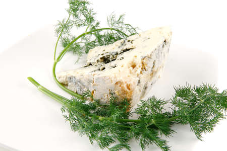 moldy: soft moldy roquefort cheese on white cheese