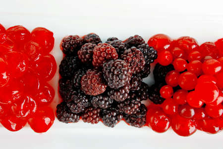 image of fresh wild berry and sweet red cherry photo