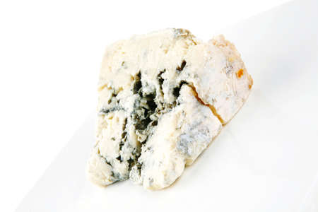 moldy: soft moldy gorgonzola cheese on white cheese