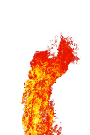 wild fire: red wild fire on white background Stock Photo