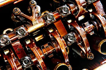 alternator: car engine inside view isolated over white