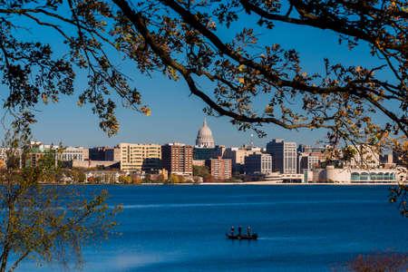 Skyline of Madison, Wisconsin Editorial