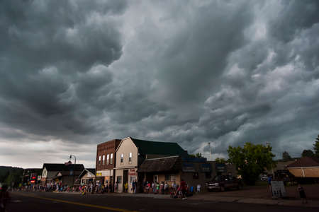 Independence Day in downtown Mellen, Wisconsin