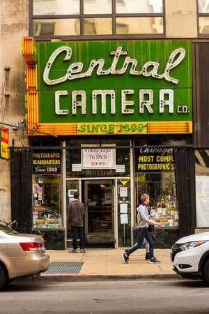 CHICAGO - May 29, 2019: Central Camera store on South Wabash Avenue in CHicago. Редакционное