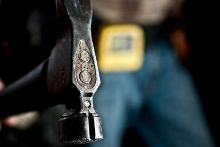 Close-up van een man met een hamer Stockfoto - 11311511