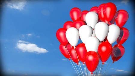 swiss flag helium balloons photo