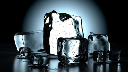melting ice: cool ice cubes