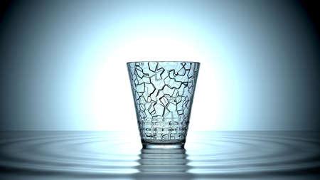 vibran: vidrio alcanzar su frecuencia de ruptura
