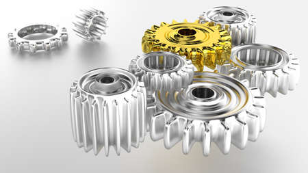 shiny chrome gears photo