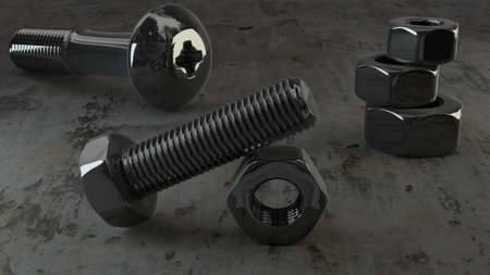 titanium bolts and nuts photo