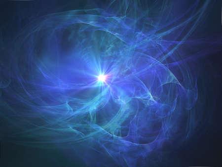 Blue hazy halo abstract fantasy background  photo
