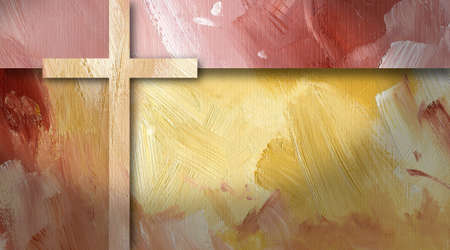 Graphic textured background illustration with cross