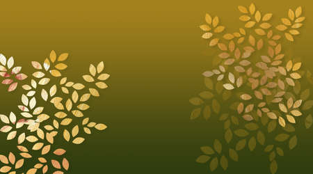 Graphic digital illustration of simple leaves with textured brush strokes.