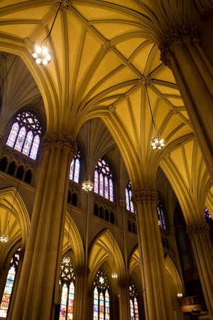 Gothic Arches of St Patrick's Cathedral Stock Photo - 4714461