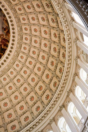 Capitol Building Rotunda dome ceiling Stock Photo