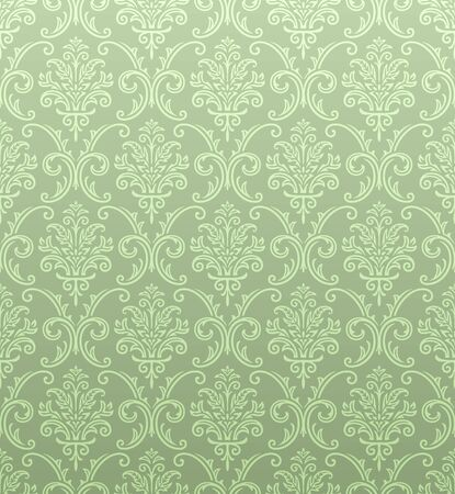Seamless damask wallpaper Vector Illustratie