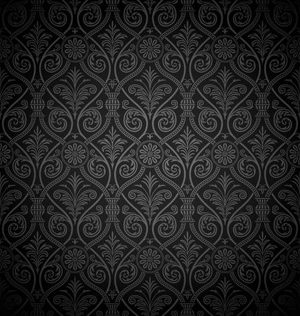 Seamless gothic damask background Vector Illustration