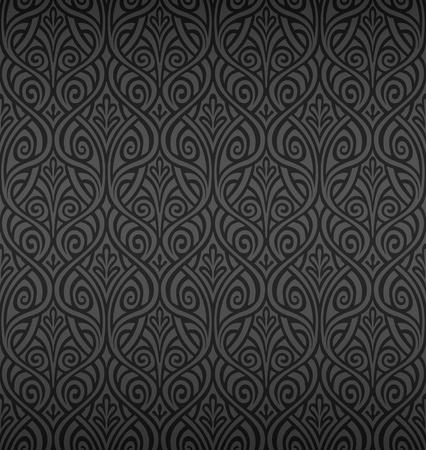 Seamless Ornamental Wallpaper Vector Illustration