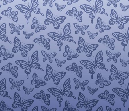 Seamless butterfly pattern Stock Vector - 11028734