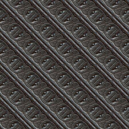 Seamless ornamental metal engraving Zdjęcie Seryjne