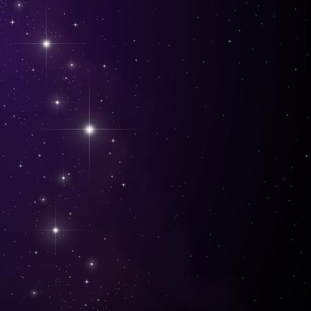 Stars and nebula vector Ilustracja