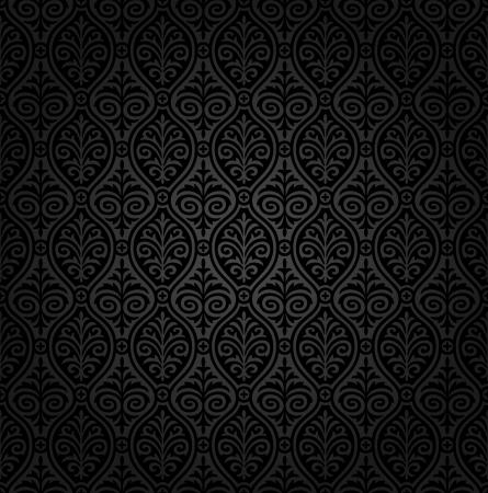 Seamless damask wallpaper Ilustracja