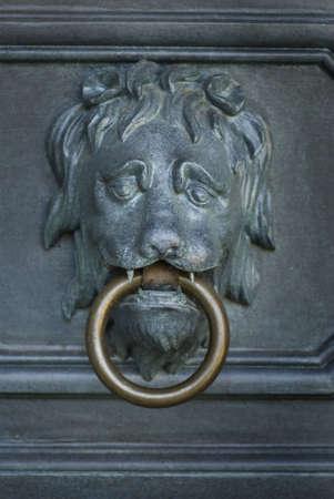 Lion head door knocker photo