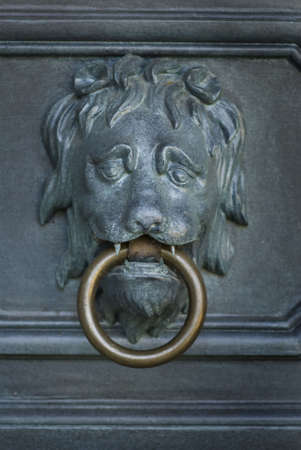 Lion head door knocker photo