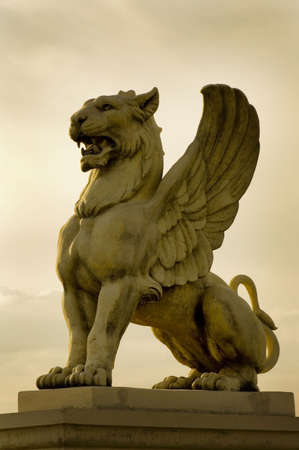 Statue of a Griffin photo