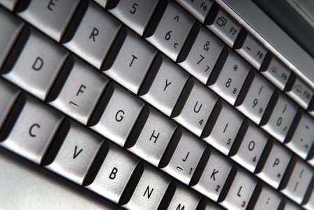 Silver computer keyboard
