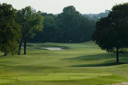 golfcourse: Golfcourse fairway Stock Photo