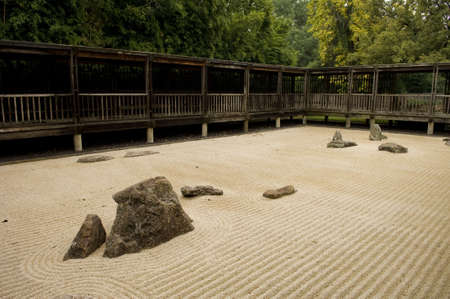 Image of a Zen garden with rocks and sand