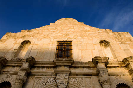 An image of the Alamo on a bright blue sky Stock Photo - 3275527