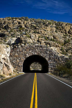 Image of a highway heading into a tunnel Stock Photo - 4982811