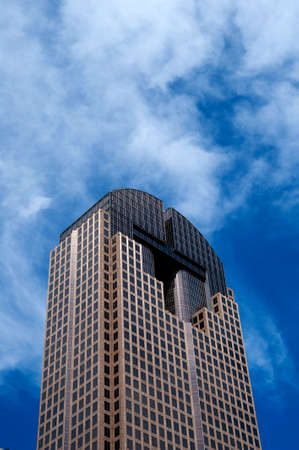 Image of a tall skyscraper on a blue sky background Stock Photo - 6199559