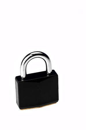 Image of a black padlock on white background Stock Photo - 6185496