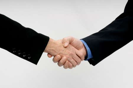 Close-up image of a professional hand shake photo