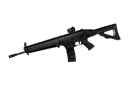 Image of a .556 NATO Tactical Rifle on a white background Stock Photo - 10341267