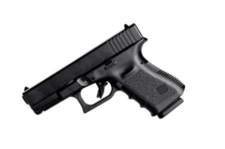Image of a 40 caliber handgun on a white background Stock Photo - 10341269
