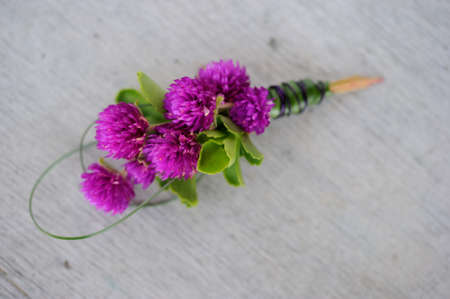 Image of a creatively designed  boutonniere Stock Photo