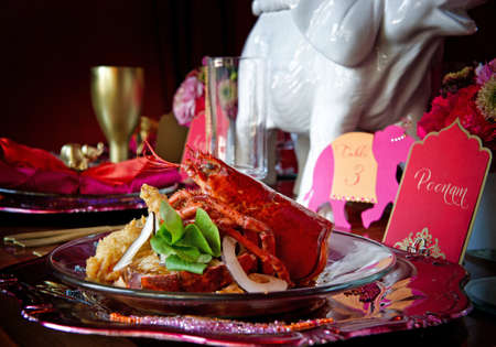 Beautiful image of a gourmet lobster dinner photo